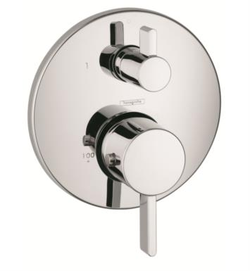 "Hansgrohe 04230820 Ecostat S 6 3/4"" Thermostatic Trim with Integrated Volume Control With Finish: Brushed Nickel"