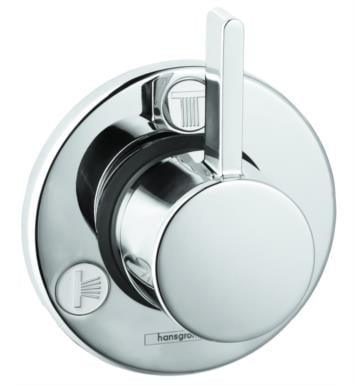 "Hansgrohe 04232820 Talis S 4 1/4"" Trio/Quattro Diverter Trim with Lever Handle With Finish: Brushed Nickel"