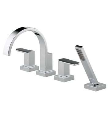 Brizo T67480 Siderna 4-Hole Roman Tub Filler With Hand Shower