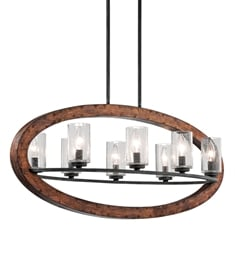 Kichler 43191 Grand Bank Collection Chandelier Linear 8 Light
