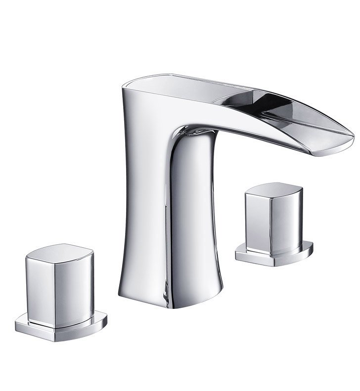 Fresca FFT3076CH Fortore Widespread Mount Bathroom Faucet in Chrome