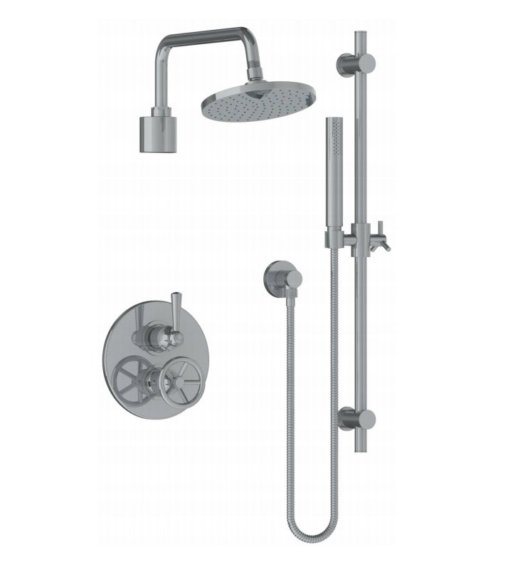 Watermark 31-6.75TO-BK-SEL Brooklyn Thermostatic Shower Set with Handshower With Finish: Satin Elite Brass (14k) <strong>(USUALLY SHIPS IN 8-9 WEEKS)</strong>