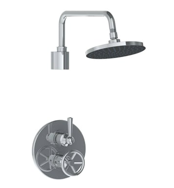 Watermark 31-6.4TO-BK-WH Brooklyn Thermostatic Shower Set With Finish: White <strong>(USUALLY SHIPS IN 9-10 WEEKS)</strong>