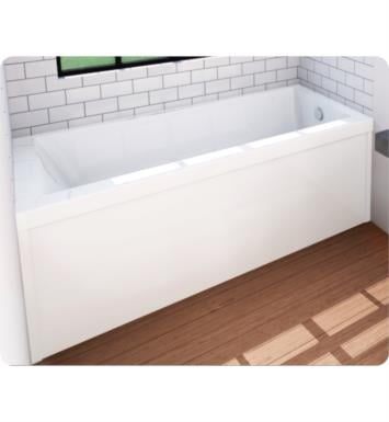 "Oceania UN28LSA46 Unity 59 3/4"" Customizable Alcove Rectangular Bathtub With Finish: Ice Gray And Tiling Flange and Drain Position: Integrated Tiling Flange with Left Hand Drain And Therapy Modes: Super AeroMassage"