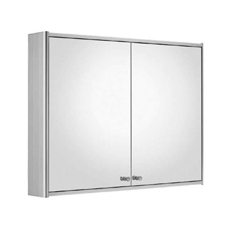 Whitehaus WHCAR-48 Medicinehaus Double Door Medicine Cabinet with Double Faced Mirrored Doors, Two Adjustable Glass Shelves and Mirror Faced Back Wall