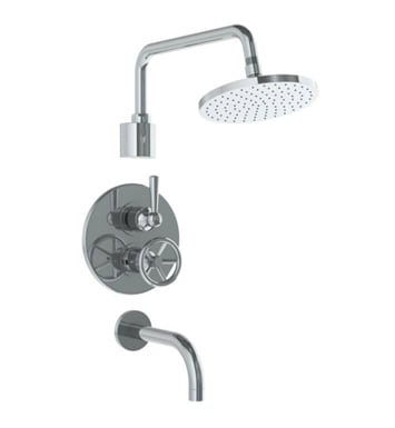 Watermark 31-3.6TO-BK-RB Brooklyn Thermostatic Shower Set With Finish: Rustica Brass <strong>(USUALLY SHIPS IN 8-9 WEEKS)</strong>