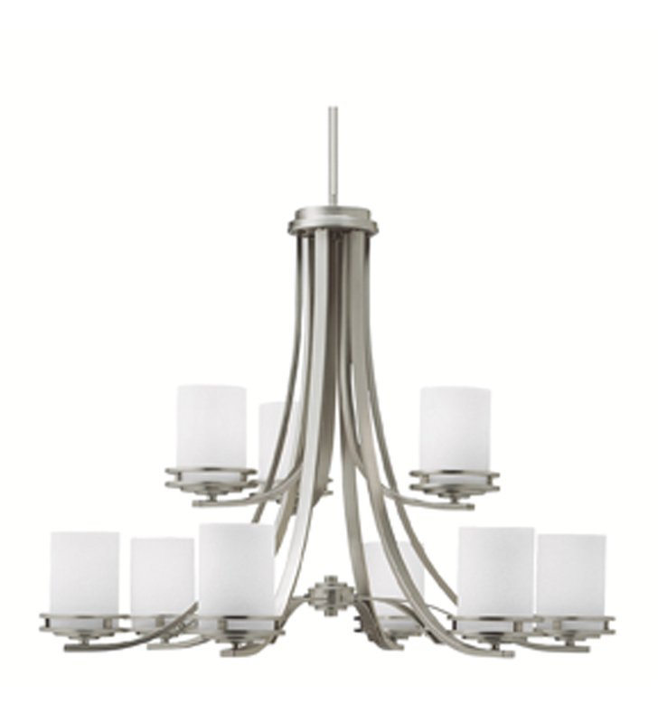 Kichler 1674NI Hendrik Collection Chandelier 9 Light in Brushed Nickel