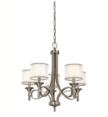 Kichler 42381MIZ Lacey Collection Chandelier 5 Light With Finish: Mission Bronze