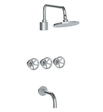 Watermark 31-3TO-BK-UPB Brooklyn Three Valve Tub/Shower Set With Finish: Uncoated Polished Brass <strong>(USUALLY SHIPS IN 8-9 WEEKS)</strong>
