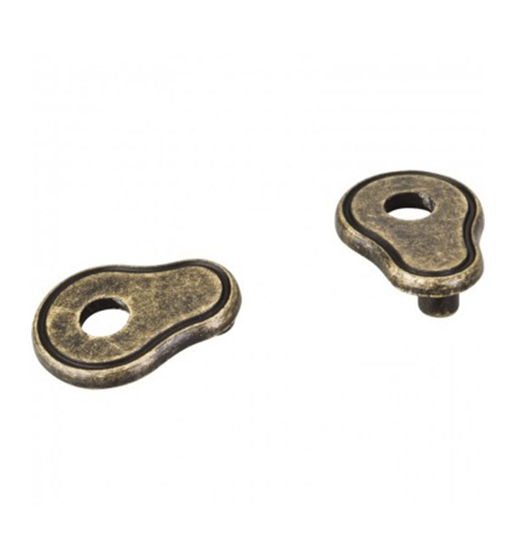 "Hardware Resources PE02-SN Pull Escutcheon for 3"" to 3 3/4"" Cabinet Pull Transition With Finish: Satin Nickel"