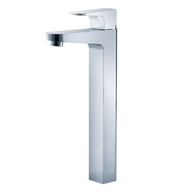 Fresca Platinum FFT3002CH Velino Single Hole Vessel Mount Bathroom Faucet in Chrome