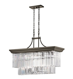 Kichler 43745OZ Emile 6 Light Linear Chandelier in Olde Bronze