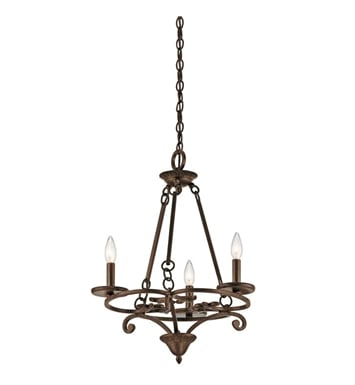 Kichler 43770AGZ Caldella 3 Light Mini Chandelier in Aged Bronze