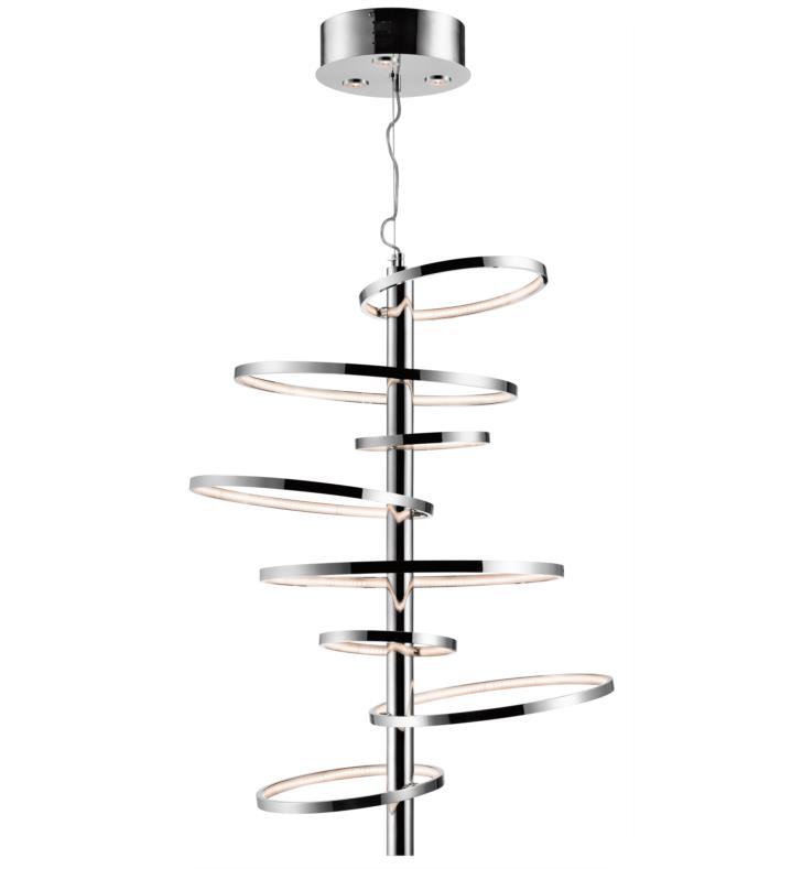 "Elan Lighting 83665 Sirkus 11 Light 38 1/4"" LED Warm White Ring Pendant Chrome Finish"