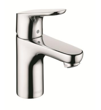 "Hansgrohe 04371 Focus 100 4 5/8"" Single Handle Deck Mounted Bathroom Faucet with Pop-Up Assembly"