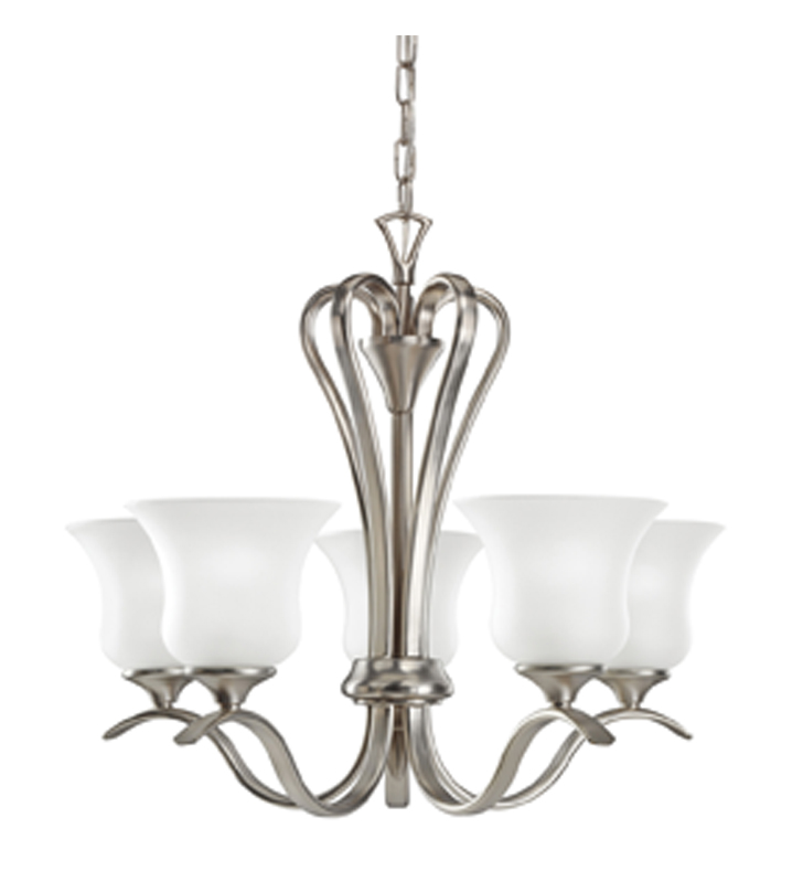 Kichler 2085NI Wedgeport Collection Chandelier 5 Light With Finish: Brushed Nickel