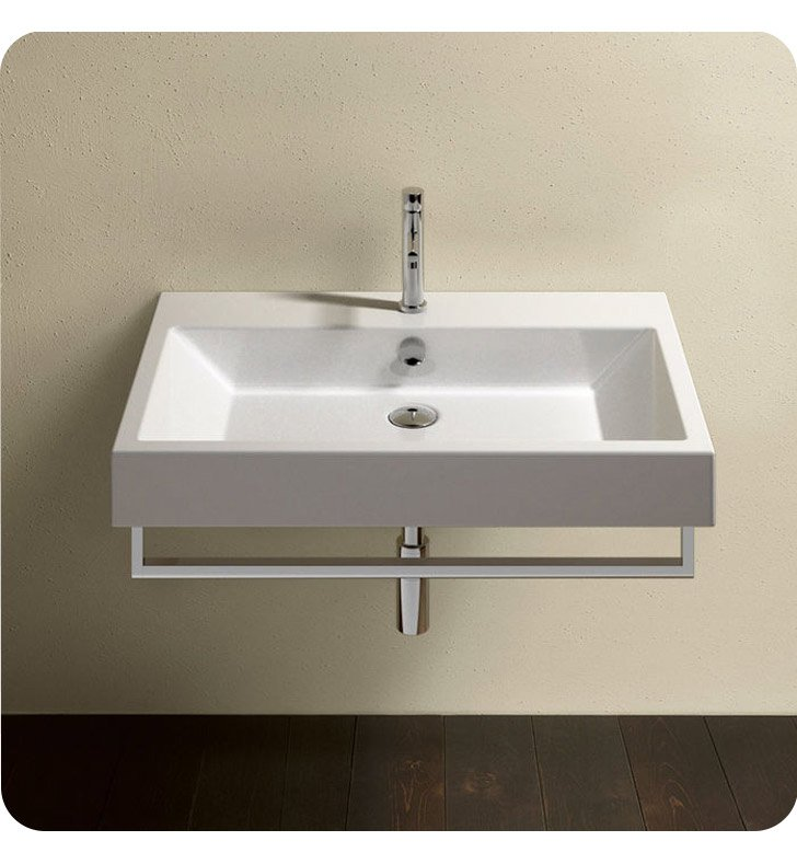 Catalano 175ZE00-0 Zero 75 Single Sink Washbasin With Faucet Holes: No Hole