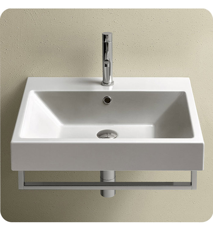 Catalano 16QZENE-3 Zero 60 Single Sink Washbasin With Finish: Black And Faucet Holes: Three Holes