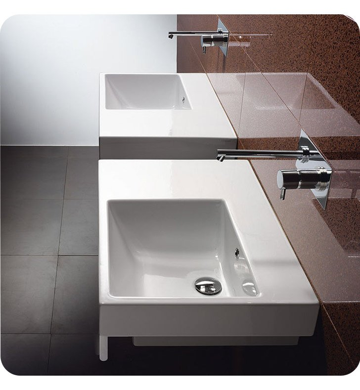 Catalano 17DZE00 Zero Domino 75 Single Washbasin Right Hand Sink
