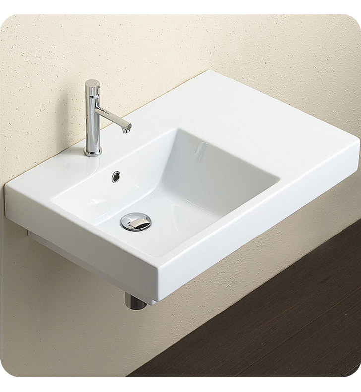 Catalano 17SZE00 Zero Domino 75 Single Washbasin Left Hand Sink