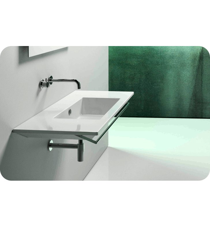 Catalano 1105ST00-2 Star 105 Single Washbasin With Faucet Holes: Two Holes