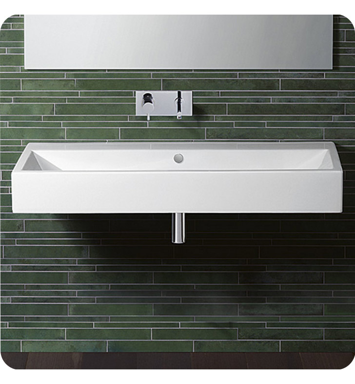 Catalano 112VE00-2 Verso 120 Single Washbasin With Finish: White And Faucet Holes: Two Holes