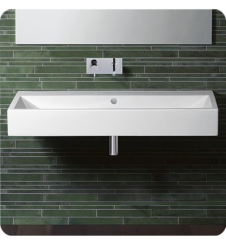 Catalano 112VENE-0 Verso 120 Single Washbasin With Finish: Black And Faucet Holes: No Hole
