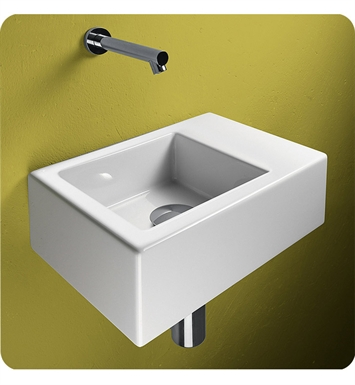 Catalano 135VE00-0 Verso Venticinque 35 Single Washbasin With Faucet Holes: No Hole
