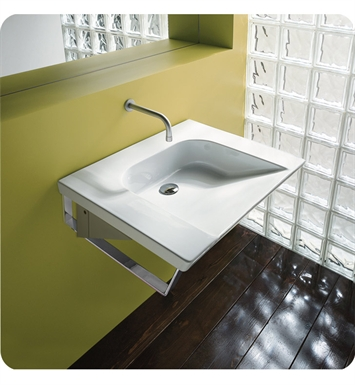 Catalano 1LAHN00-2 Verso Comfort 70 Single Washbasin Wall-Hung With Faucet Holes: Two Holes