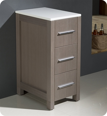 "Fresca FST6212GO Torino 12"" Bathroom Linen Side Cabinet in Gray Oak"