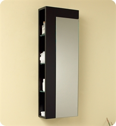 Fresca FST1024ES Espresso Bathroom Linen Side Cabinet with Large Mirror Door