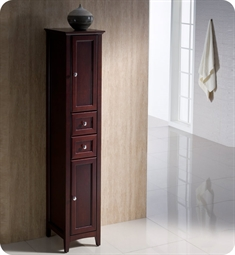 Fresca FST2060MH Oxford Mahogany Tall Bathroom Linen Cabinet