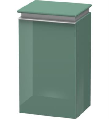 "Duravit DN1270L1431 Darling New 27 3/4"" Wall Mount Semi-Tall Linen Cabinet with Two Glass Shelves With Body Finish: Silver Pine And Sensor Switch: Left Sensor Switch And Front and Countertop Finish: Terra"