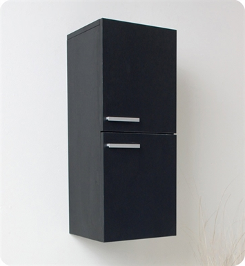 Fresca FST8091BW Black Bathroom Linen Side Cabinet with 2 Storage Areas