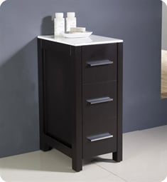 fresca fst6212es torino 12 bathroom linen side cabinet in espresso - Bathroom Linen Cabinets