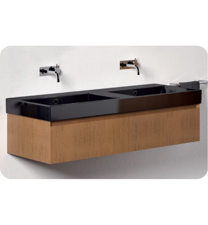 Catalano ZO1251DR-P18 Zero 125 Vanity Base Cabinet with One Drawer With Finish: Nero (Soft-Touch Laminate)