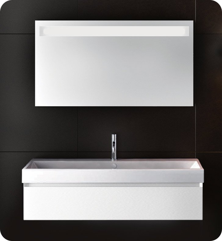 Catalano ZO1001DR-P17 Zero 100 Vanity Base Cabinet with One Drawer With Finish: Castoro Ottawa (Soft-Touch Laminate)
