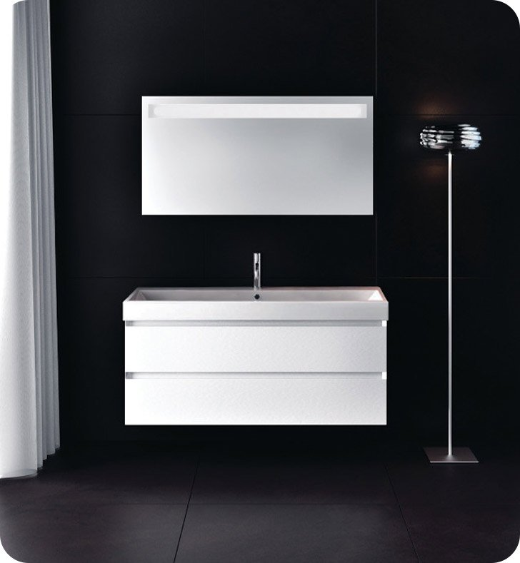 Catalano ZO1002DR-P29 Zero 100 Vanity Base Cabinet with Two Drawers With Finish: Bianco Male (Soft-Touch Laminate)