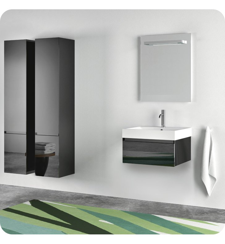 Catalano ZO0601DR-H04 Zero 60 Vanity Base Cabinet with One Drawer With Finish: Light Grey (High Gloss)