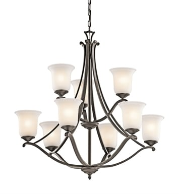 Kichler 43402OZ Wellington Square Collection Chandelier 9 Light in Olde Bronze