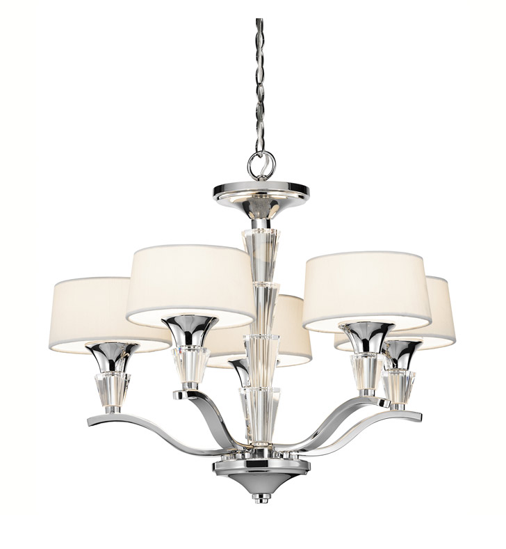 Kichler 42029CH Crystal Persuasion Collection Mini Chandelier 5 Light in Chrome