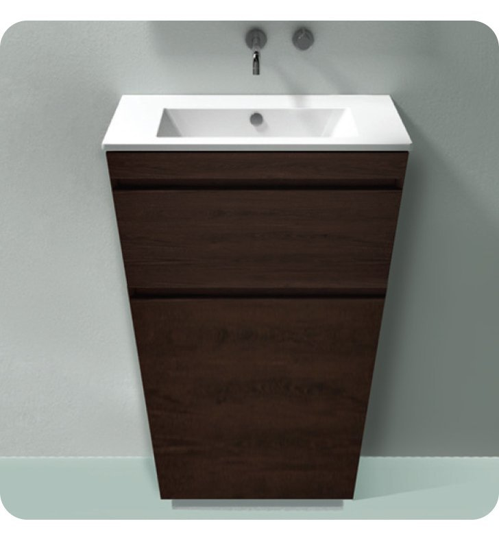 Catalano ST0802DR-V09 Star 80 Vanity Base Cabinet with Two Drawers With Finish: Wenge Groove (Wood Veneer)