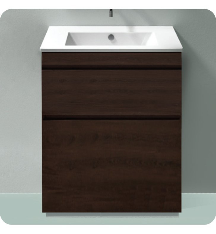 Catalano ST0802SDR-P07 Star 80 Vanity Base Cabinet with Two Drawers With Finish: Wenge Microline (Wood Grain Laminate)