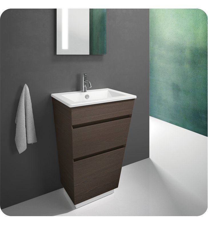 Catalano ST0582DR-V10 Star 58 Vanity Base Cabinet with Two Drawers With Finish: Silver Ash (Wood Veneer)