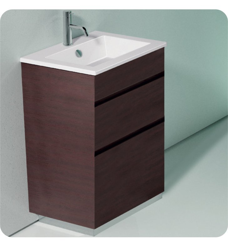 Catalano ST0582SDR-V04 Star 58 Vanity Base Cabinet with Two Drawers With Finish: Ebony Safari (Wood Veneer)