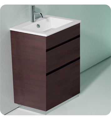 Catalano ST0582SDR-P18 Star 58 Vanity Base Cabinet with Two Drawers With Finish: Nero (Soft-Touch Laminate)