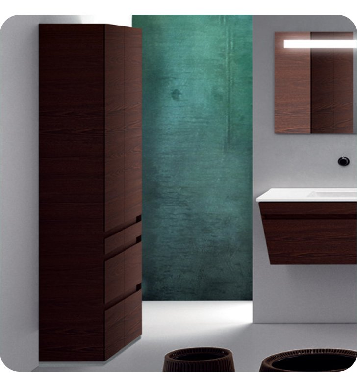 Catalano ST0703DO-P18 Star Tall 70 Floor Cabinet with Two Doors With Finish: Nero (Soft-Touch Laminate)