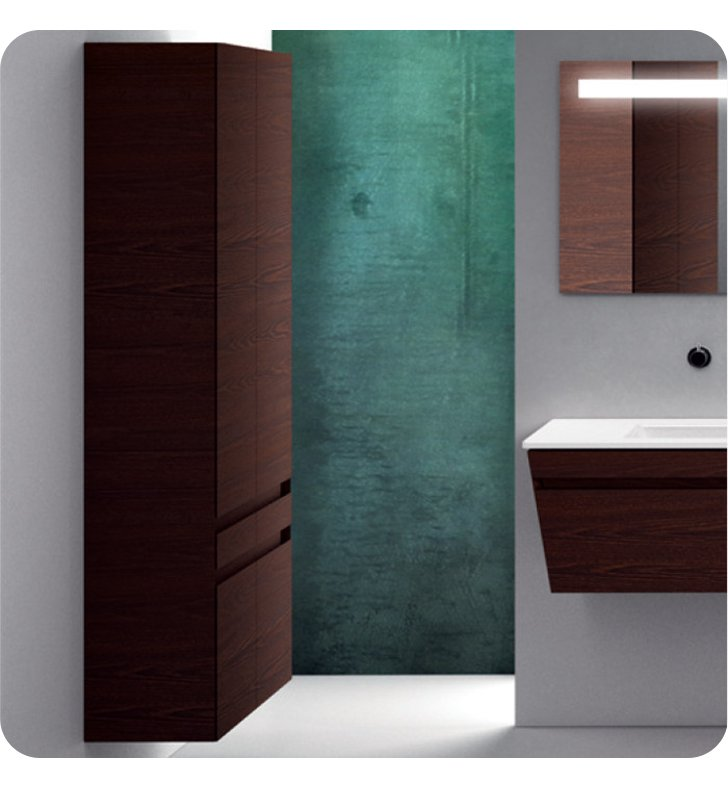 Catalano ST0702DO-P29 Star Tall 70 Wall Cabinet with Two Doors With Finish: Bianco Male (Soft-Touch Laminate)