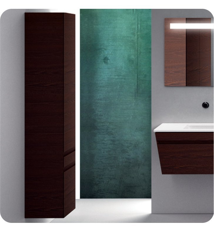 Catalano ST0352DO-H03 Star Tall 35 Wall Cabinet with One Door With Finish: Glacier (High Gloss)