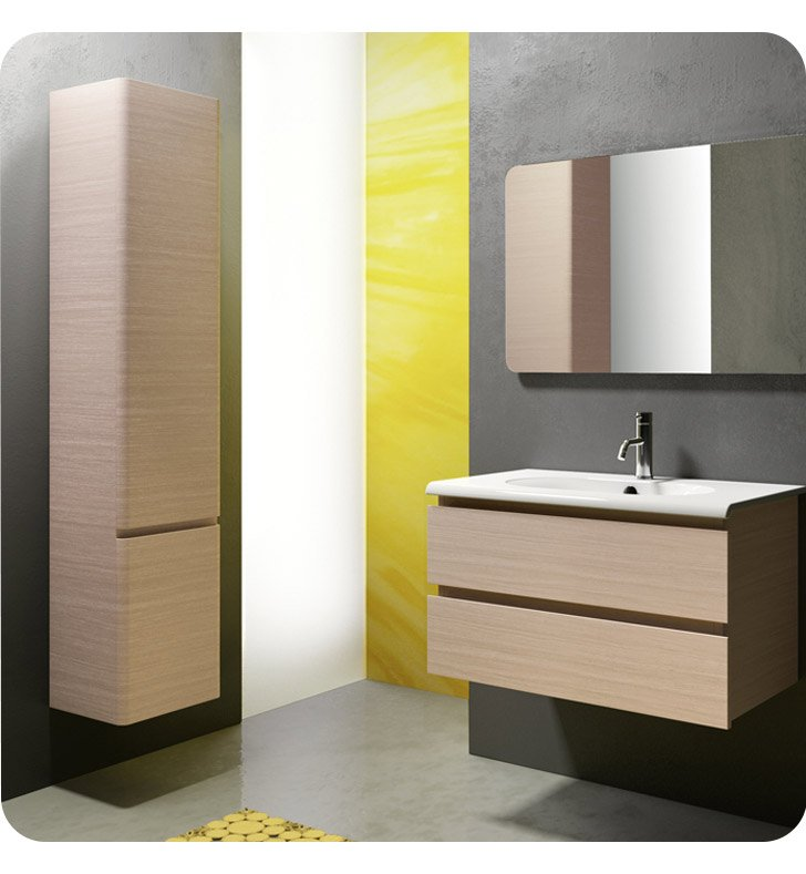Catalano SF0802DR-V09 Sfera 80 Vanity Base Cabinet with Two Drawers With Finish: Wenge Groove (Wood Veneer)